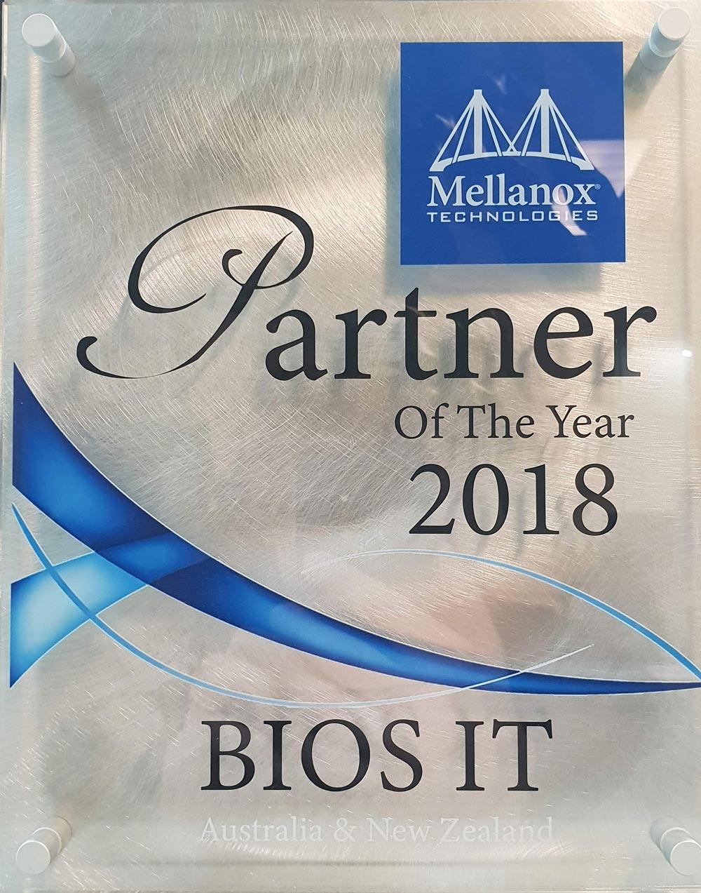 mellanox partner of the year award